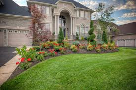 Front Yard Landscaping Ideas Fire Pits Stone Deck Green Plants Swimming  Spas Building Green Pretty Garden