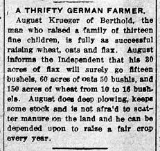 August Krueger A Thrifty German Farmer - Newspapers.com