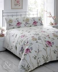 white duvet cover with purple flowers  black and white flowers