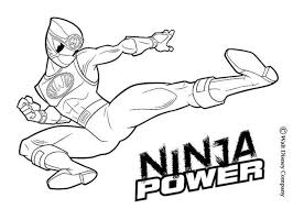 Ninja Power Rangers Coloring Pages