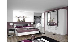 Schlafzimmer Set Burano In Weiß Und Grau Metallic 4 Teilig