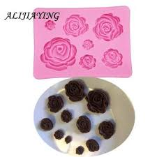 Buy 3d Rose Flower Fondant Cake Chocolate Sugarcraft Mold Cutter