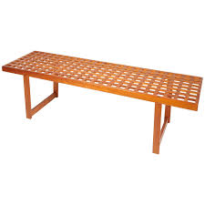 danish modern slat bench in teak for sale at stdibs