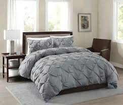 organic pintuck duvet cover king feather gray pintuck duvet cover 3 piece pinch pleat comforter