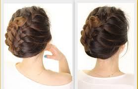 French Braid Updo Hairstyles 5 Minute French Braid Updo Easy Summer Hairstyles Youtube