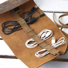 Personalised Leather Cord Organiser