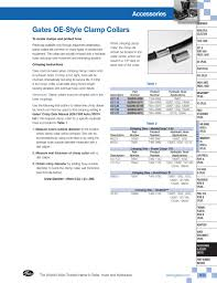 Gates Crimp Chart 2007 Gates Hyd Catalog Part 2 By Site Dev Issuu