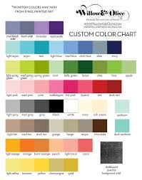 Willow Olive Printed Color Palette Chart