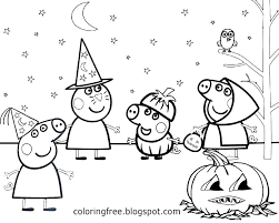 Peppa Pig Colouring Pages Free Coloring To Print Halloween The Page