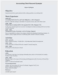 Payroll Resume Samples Clerical Resume Sample Terrific Accounting Clerk Resume Examples