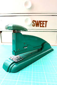 vintage has so much more character vintage aqua swingline stapler made in the usa