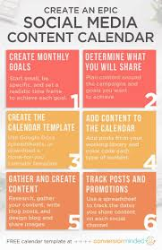 Create A Calendar Template An Epic Social Media Content Calendar Template For 2020