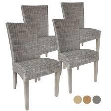 Esszimmer Stühle Rattanstühle Set Cardine 4 Stück Mitohne Sitzkissen