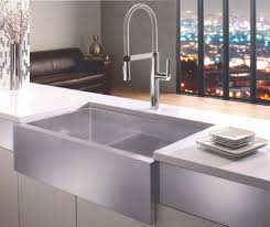 stainless steel apron front kitchen sink and single handle pull down faucet full size apron kitchen sink
