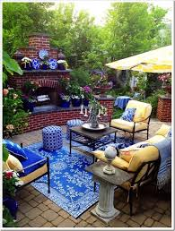 yellow and blue patio outdoor rooms