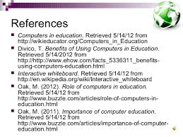 uses of computers in education teachers 12 referencesiuml129reg computers in education