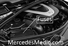 r class fuse box location chart diagram w  engine compartment fuse box front sam control unit