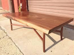 Black Walnut Coffee Table Custom Made Black Walnut Slab Coffee Table By Martell Woodworks