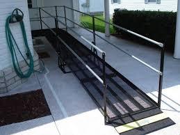 an amramp modular wheelchair ramp makes this sebring fla home accessible