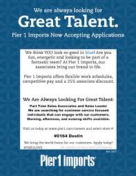 pier 1 imports careers. Pier 1 Imports Job Flyer Careers O