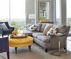 Yellow Living Room Accessories Living Room Gray Sofa White Bookcases Brown Ceiling Fans Black