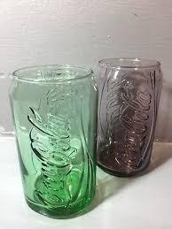 mcdonalds e coca cola can glasses x2 green purple