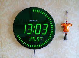 digital wall clock battery operated