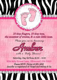 Pink And Zebra Baby Shower Invitations African American Baby Pink Zebra Baby Shower Invitations