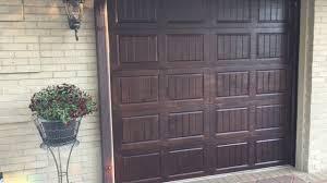 metal garage doorsMetal Garage Door Transformation Stained Wood Faux Finish  YouTube