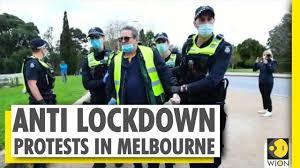 Curfew and limits on exercising, shopping for melbourne. Protests Against Coronavirus Lockdown Erupt In Melbourne Covid 19 Australia World News Wion Youtube