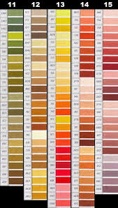 Dmc Perle Threads Color Chart Nakpunar