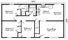 ranch style floor plans. Raised Ranch Remodel Floor Plans Style Modular Homes From Gbi Avis