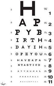 Card Birthday Chart Amazon Com Eye Chart Birthday Card By Vash Designs