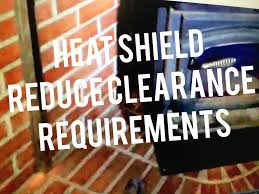 wood stove heat shield installation requirements reduce clearances to combustibles you