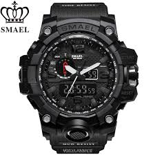 <b>SMAEL Men</b> LED Digital <b>Quartz</b> Waterproof Military Sport Watch ...