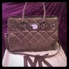 78% off Michael Kors Handbags - MK metallic leather quilted ... & MK metallic leather quilted Hamilton Tote Adamdwight.com
