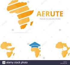 Set Of Africa Logo Combination Safari Symbol Or Icon Unique Stock