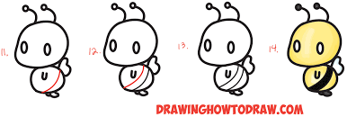 learn how to draw a cute chibi kawaii cartoon 3 shape ble bee try our new book drawing