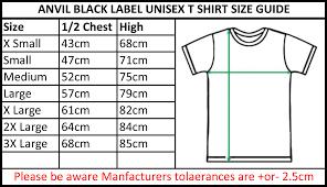 Anvil T Shirts Size Chart Vincent Mens T Shirt