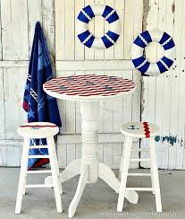 nautical inspired furniture. Nautical Furniture Makeover Sailboat Inspired Petticoat Junktion Pub Table Project