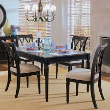 American Drew Coffee Table American Drew Camden 5 Piece Round Pedestal Gathering Height Table