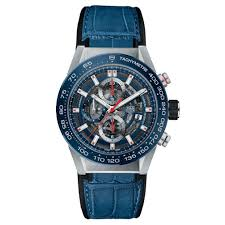 tag heuer carrera heuer calibre 01 blue leather strap car201tfc6406 jpg