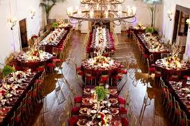 Rectangle Tables Wedding Reception Round And Rectangular Table Set Up Wedding Reception