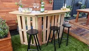 diy pallet bar. Completed Pallet Bar In Backyard Diy E