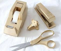 diy office supplies. 11 things that look more expensive with gold paint office suppliesschool diy supplies r