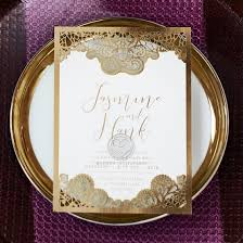 Baroque Wedding Invitations Dramatically Decorative Laser Cut Card Lovely Foil Design
