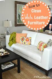 how to easily clean a white leather sofa