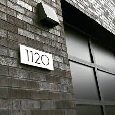 Large modern house numbers Address Modern House Numbers Handmade Out Of Raw Aluminum These Modern House Numbers Are From And Feature Modern House Numbers Revel Design Co Modern House Numbers Large Contemporary House Number Modern House