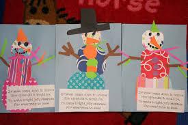 Colorful Snowmen Snowman Art Classroom Crafts