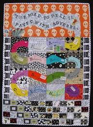Gefilte Quilt: Rubber-Stamped Adverb Quilt for Better Blogging & Overall_with_weed_2_w_IMG_9323.jpg Adamdwight.com